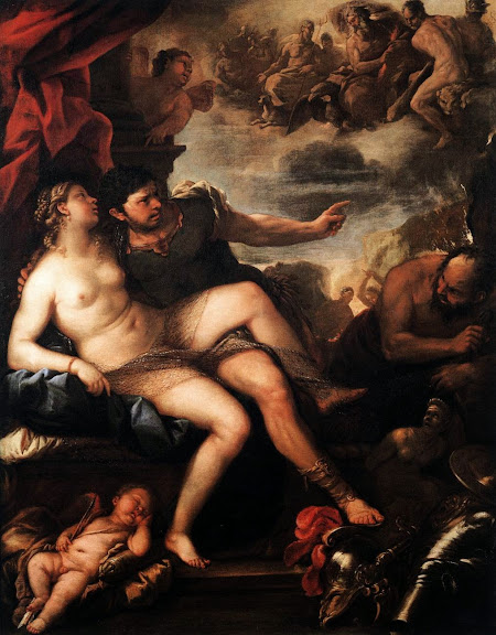 Luca Giordano - Mars and Venus Caught by Vulcan