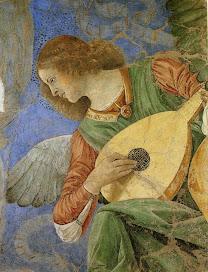 MELOZZO DA FORLI Music-making Angel c. 1480