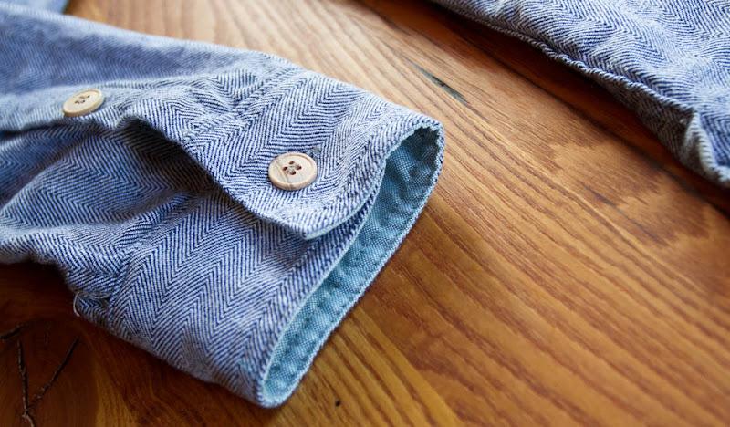 Blue Woodie Hoodie Sleeve Detail