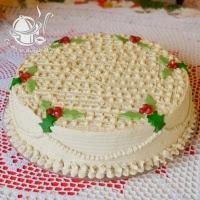 tort karmelowo- brzoskwiniowy