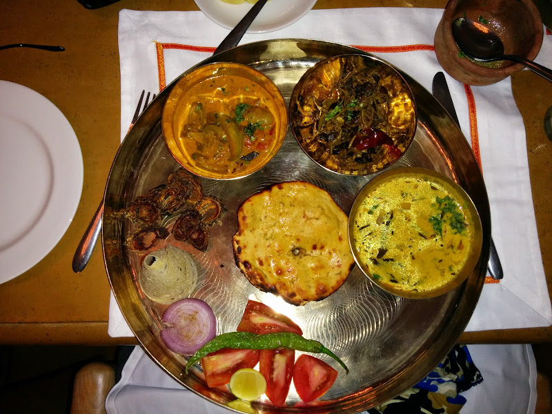 Delicious Marwari Thali at Suryagarh