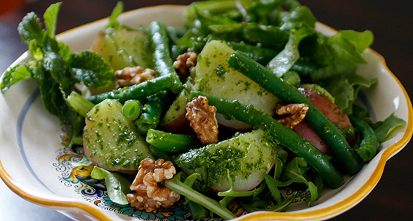 Potato and Green Bean Salad with Arugula Pesto* Recipe