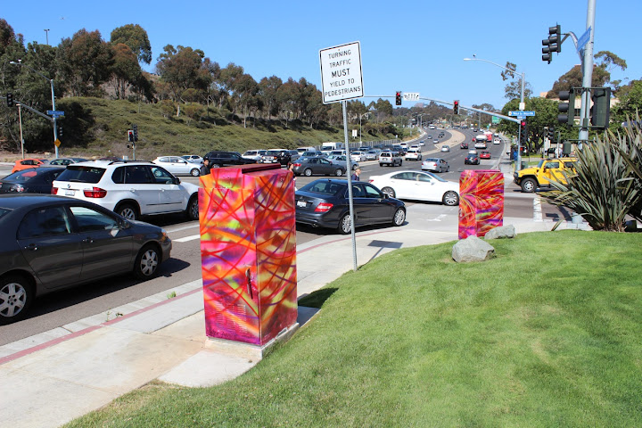 Victor Angelo Street Art Twin Towers Public Art Cars Torrey Pines Road La Jolla Village Drive Intersection