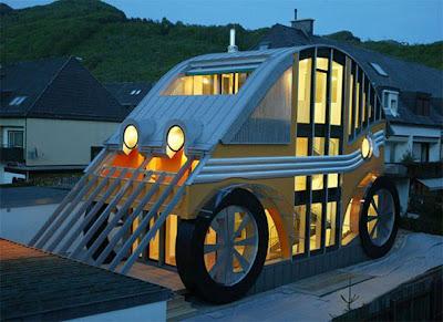 diseño de casa coche