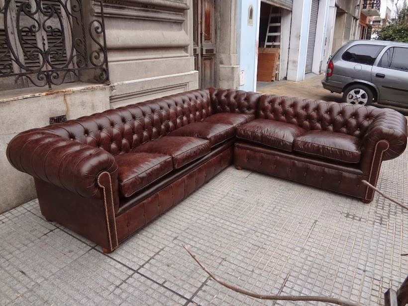 Livingsdeco sillon sofa chester chesterfield 3 cuerpos for Sillon chesterfield cuero