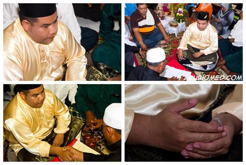 lafaz akad nikah oleh pengantin lelaki