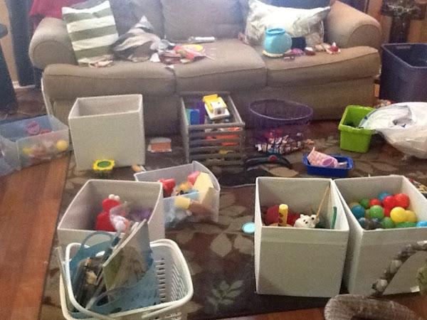 Organizing toys!