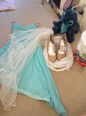 Swap meet finds for costuming: Elsa, Stitch, Rapunzel?