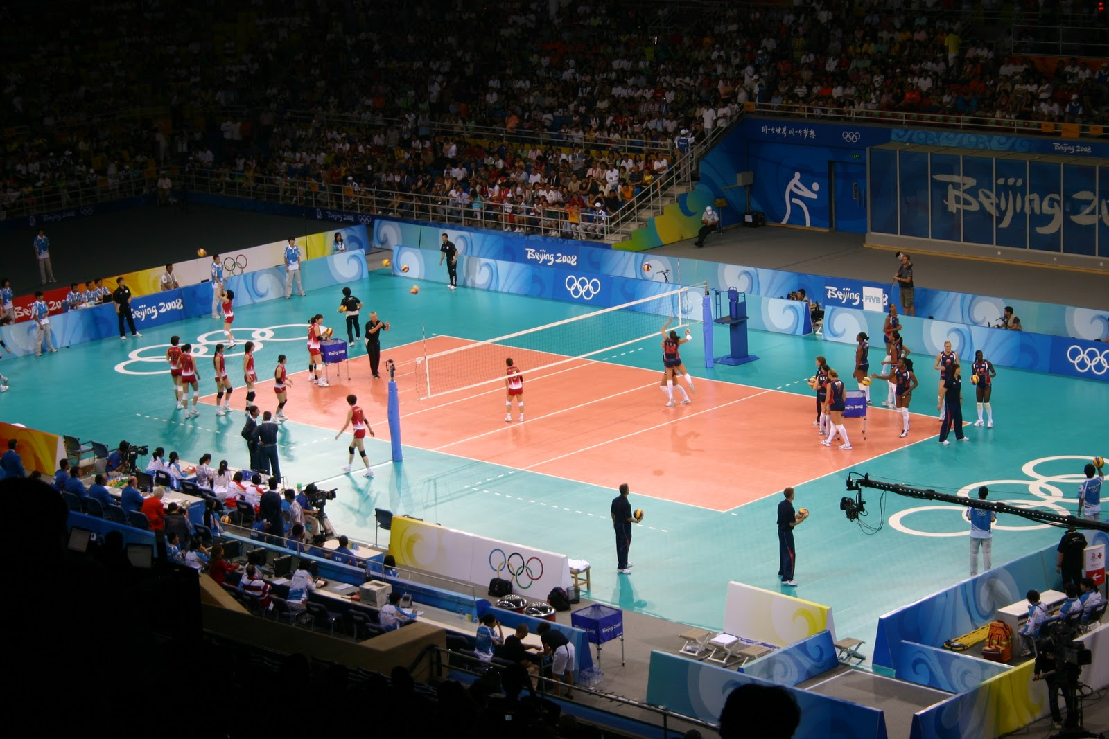 Physical Fitness & Me: Indoor Volleyball & Court Diagram