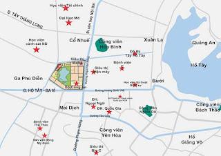 Vị trí chung cư An Bình City- Thành phố giao lưu