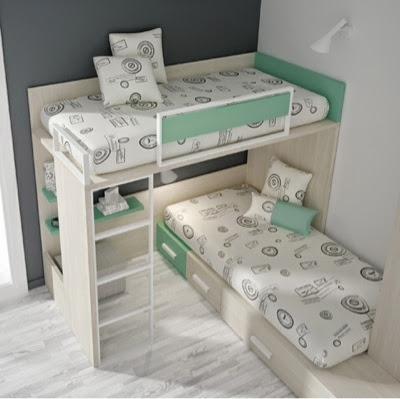 Dormitorios juveniles y habitaciones infantiles con dos camas - Habitacion infantil dos camas ...