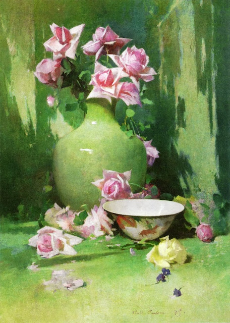 Emil Carlsen - Vase of Roses