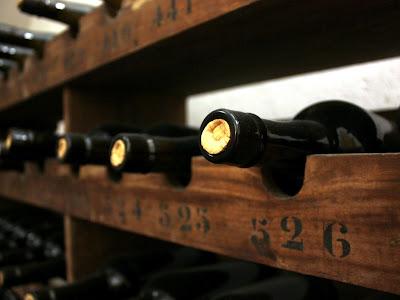 Wine bottles at Quinta Nova winery in Portugal