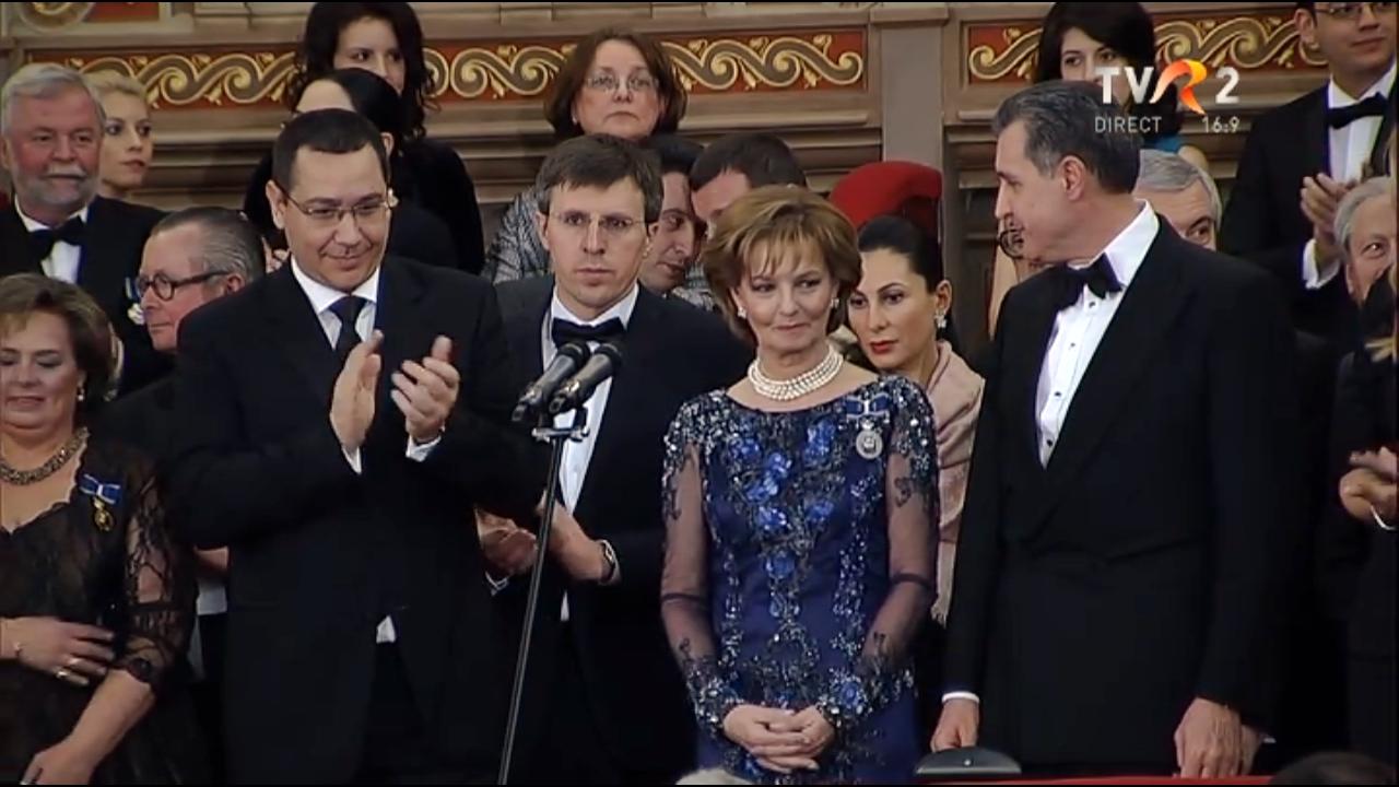 Principesa Margareta, Principele Radu, Victor Ponta - Concertul 25 de ani de la sosirea în ţară a Principesei Moştenitoare Margareta