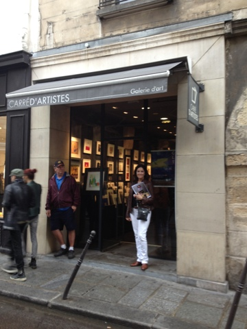 noreen coup en plein air visit to carre d 39 artistes in paris before my show tomorrow night. Black Bedroom Furniture Sets. Home Design Ideas