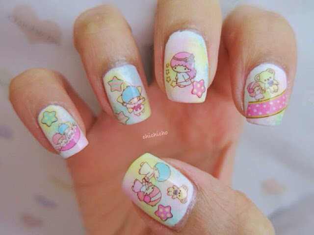 Little Twin Stars Water Decal Nail Art - chichicho~