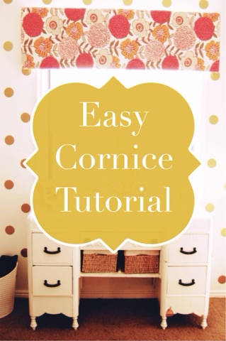 Easy cornice tutorial using foam board