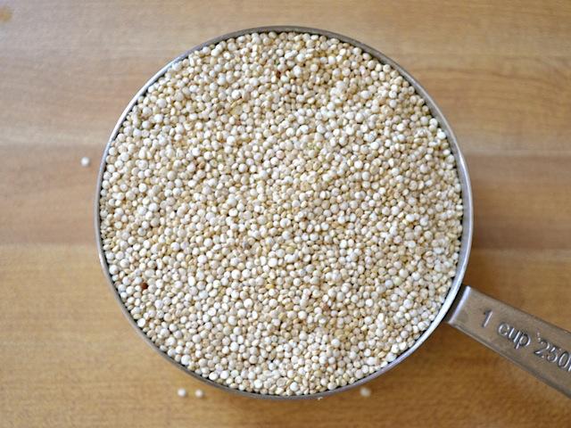 dry quinoa