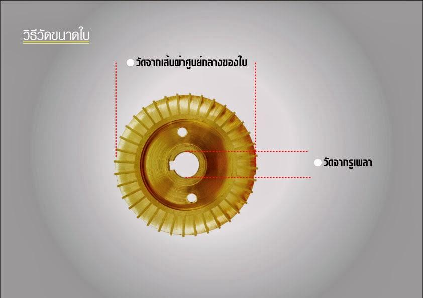 ใบพัดลมทองเหลือง