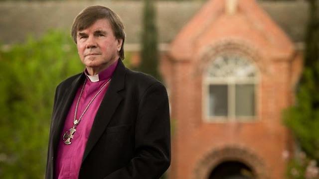 Arzobispo anglicano John Hepworth. Fotografía de James Elsby  ©The Australian