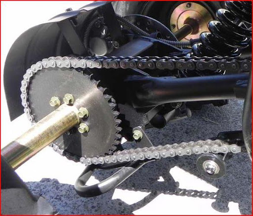 150cc Automatic Sports Quad - Chain Guards and Auto Chain Tensioner