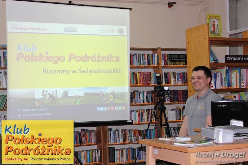 Maciej podczas spotkania Klubu Polskiego Podróżnika
