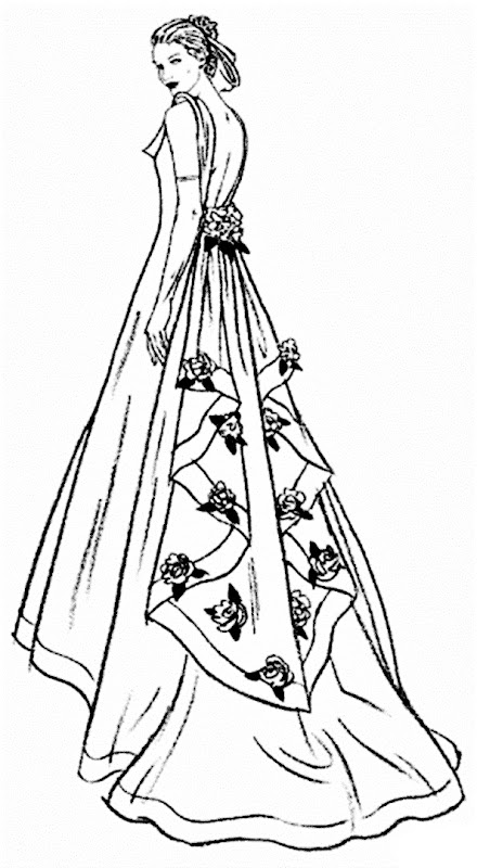 Vestido de Novia para colorear