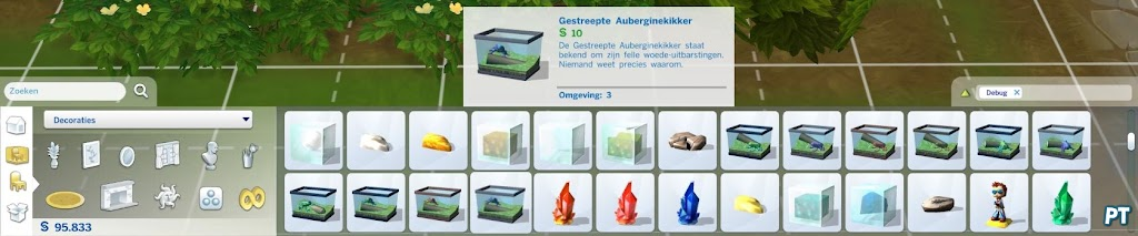 how to get debug items in sims 4