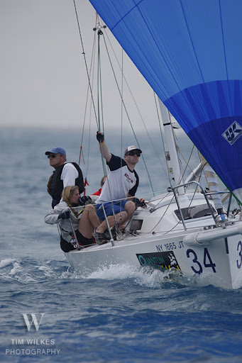 J/80 sailing at Key West Race Week downwind