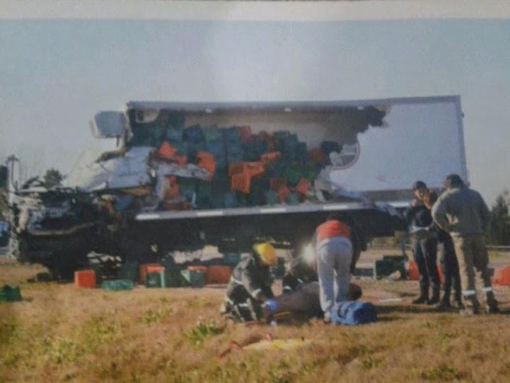 Falleció un camionero de La Serenísima en una colisión en ruta 6