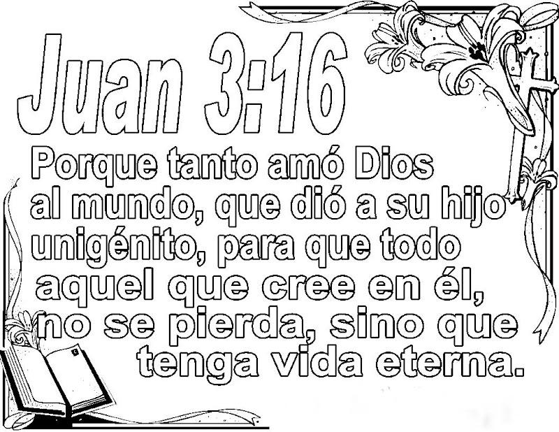 Dibujos Catolicos Juan 3 16 Para Colorear