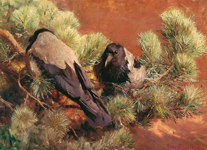 Bruno Liljefors - Hooded Crows
