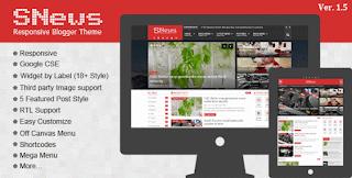 SNews – News/Magazine Responsive Blogger/Blogspot Theme