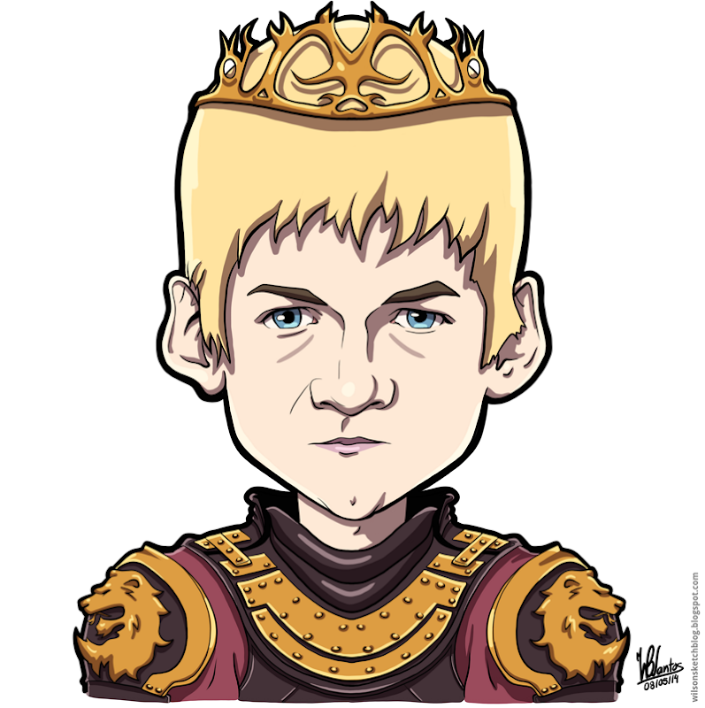 Cartoon caricature of King Jeoffrey from Game of Thrones.