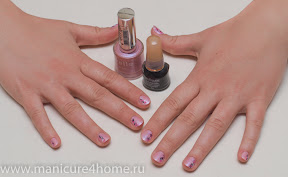 рисунки на ногтях иголкой - мраморный рисунок