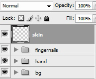 Create a skin layer