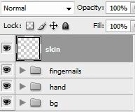 Create a skin layer