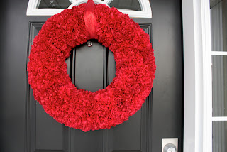 Faux Carnation Wreath