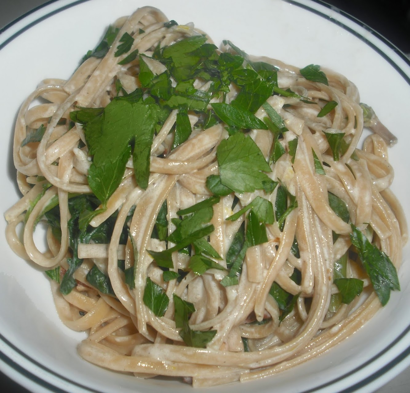Pasta with Goat Cheese and Almonds