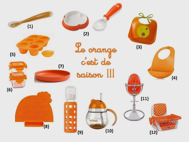 Halloween repas de bébé orange