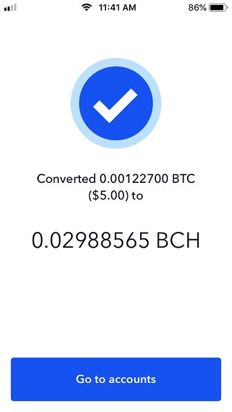 Converted page on Coinbase.