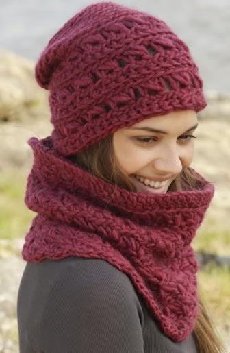 Como Tejer Un Conjunto De Gorro Con Cuello A Crochet Accesorios