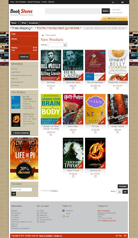 Product List - Book and magazine Store Template