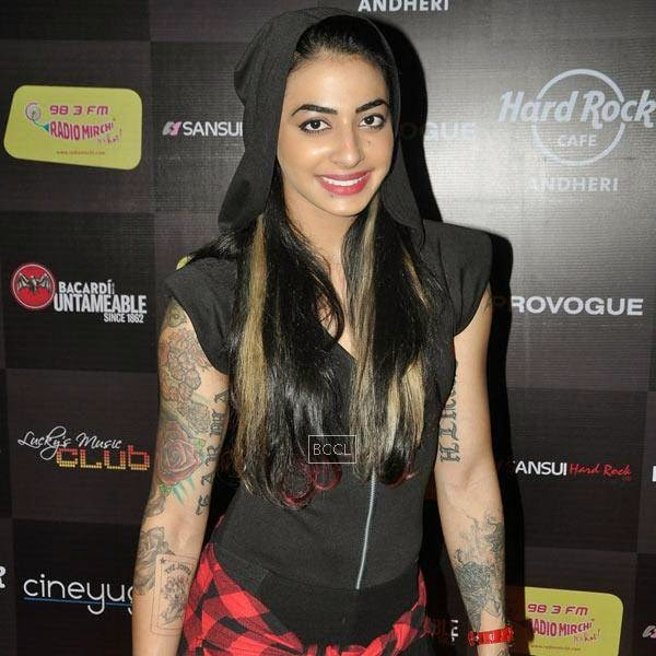 VJ Bani attends Ankit Tiwari's live concert, held at Hard Rock Cafe, on July 11, 2014.(Pic: Viral Bhayani)