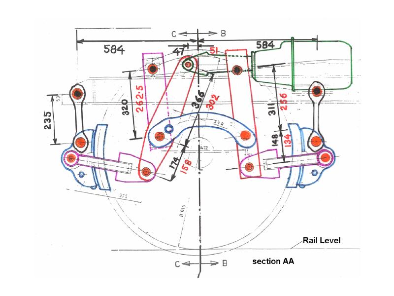 Rail Technologies Bogie Mounted Brake Cylinderair Brakes