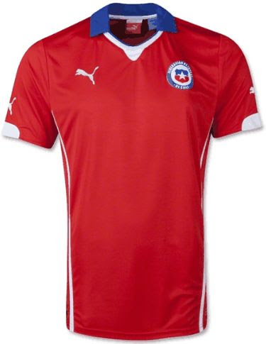 Jual Jersey Chile Home Piala Dunia 2014