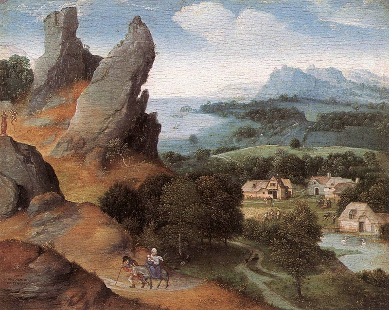 Herri met de Bles - Landscape with the Flight into Egypt