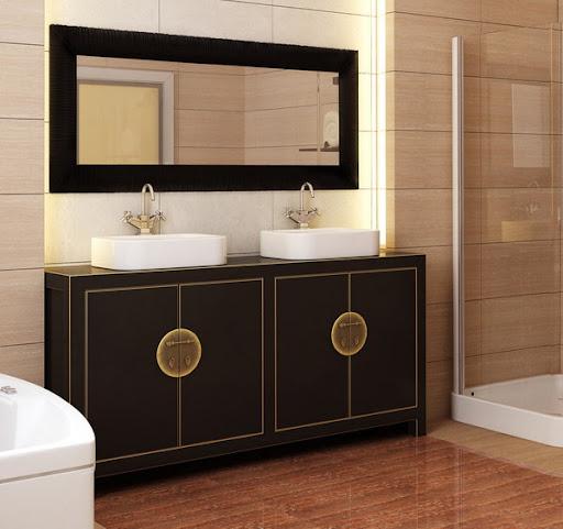 double sink bathroom brown vanity sink asian furniture