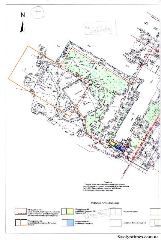 Схема відведення земельної ділянки прокуратурі
