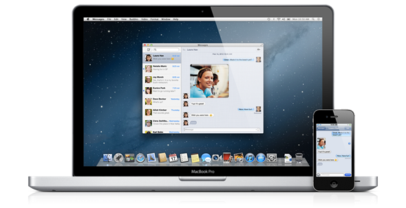 overview messages Top 10 New Features in Apple OS X Mountain Lion